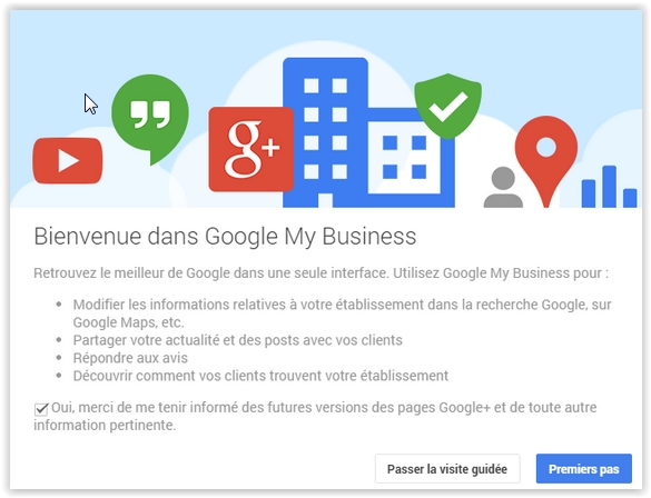 bienvenue Google my business